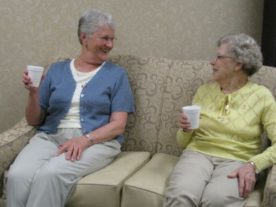 Residents Chatting Over Coffee