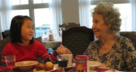 KPH Resident With Granddaughter