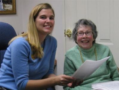 Staff With Volunteer Resident