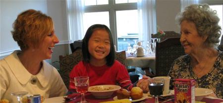 Three Generations At Breakfast